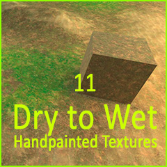 11 Dry to Wet hand-painted Textures