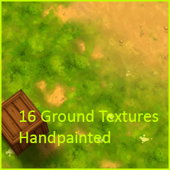 16 Ground Textures Handpainted