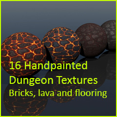 16 Handpainted Dungeon Textures